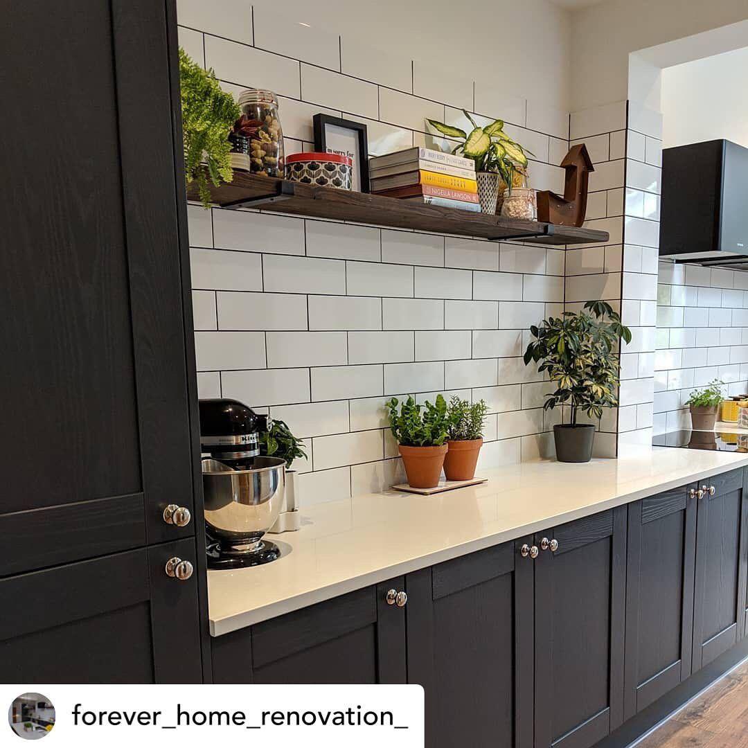 Wren Kitchens Wrenkitchens On Instagram Another Beautiful Wrenovation This Is A Shaker Forest In Alchemy Wren Kitchen Home Kitchens Modern Kitchen