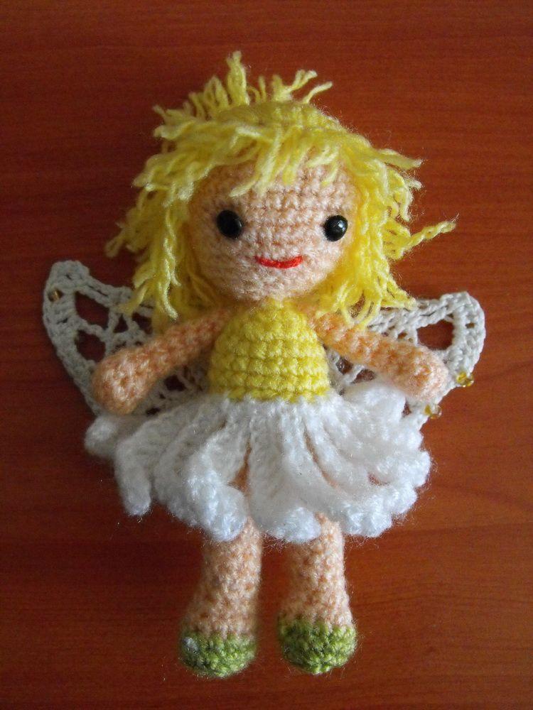 Hace rato que tenía la idea de hacer una haditas en crochet. Había ...