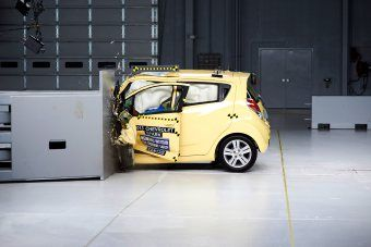 Small Cars Get Crushed In Crash Tests Chevrolet Spark