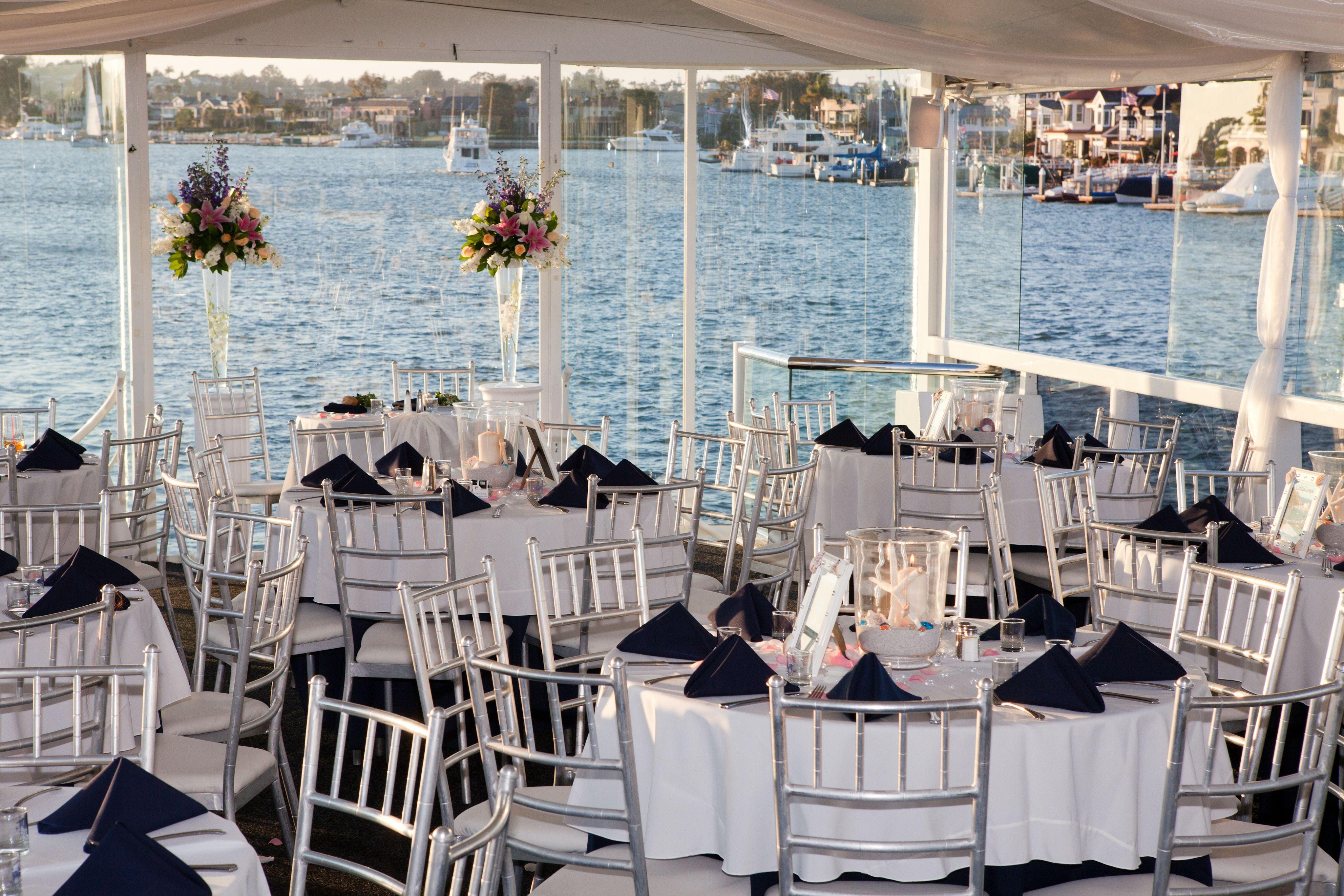 Athena S Reception Area Yacht Wedding Reception Wedding Newport Beach Beautiful Beach Wedding