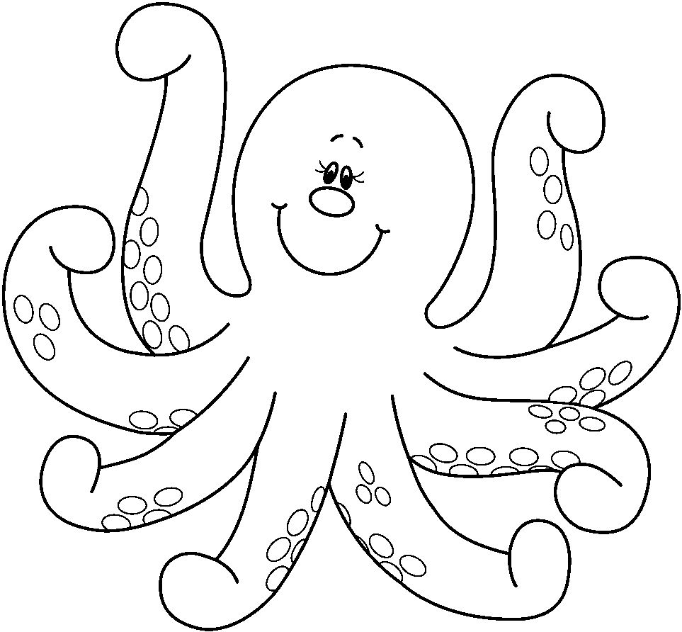 Octopus Coloring Pages Preschool And Kindergarten Crafts