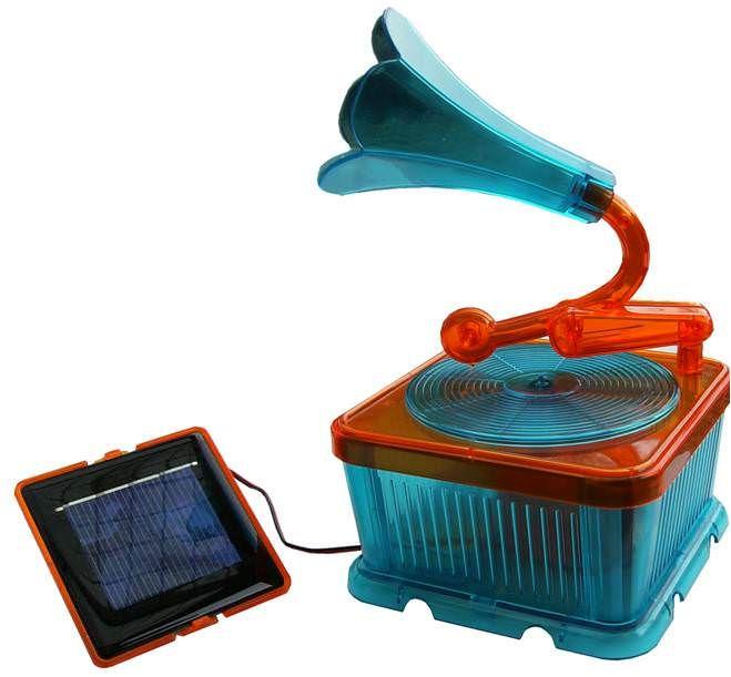 Boite a musique solaire, avec disque de musiques de Noël.