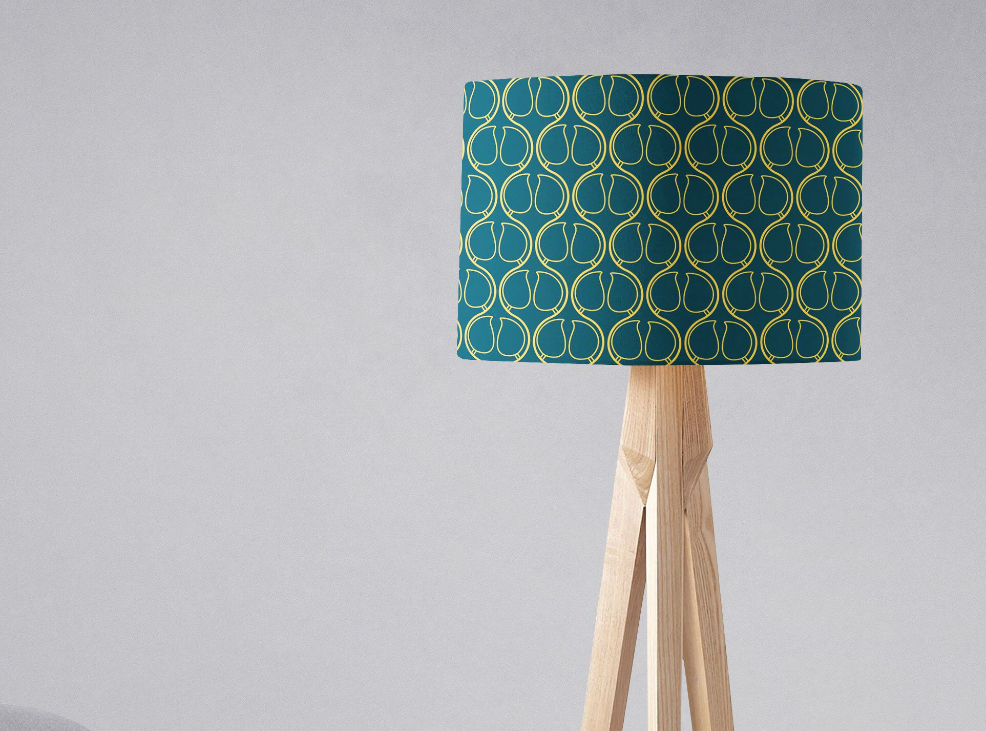 Navy Lampshade, Navy Home Decor, Navy Blue Lamp, Lampshade, Table