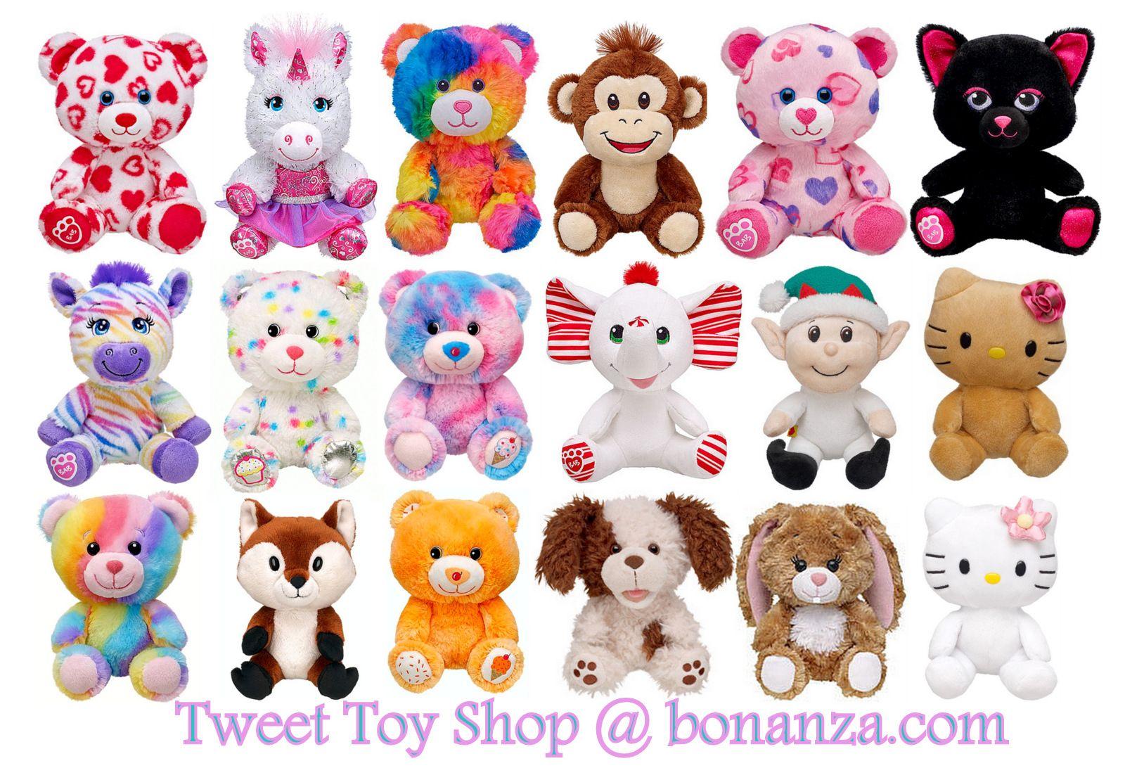 New Build A Bear Buddies And Smallfrys Mini Stuffed Plush Toy