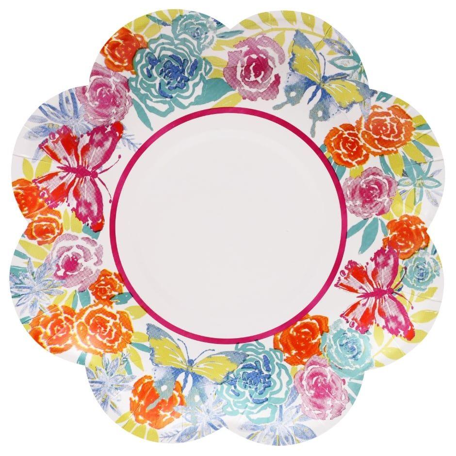 Spring Fling Flower Shaped Paper Party Plates 14 Ct Packs Paper Plates Party Spring Fling Party Spring Fling