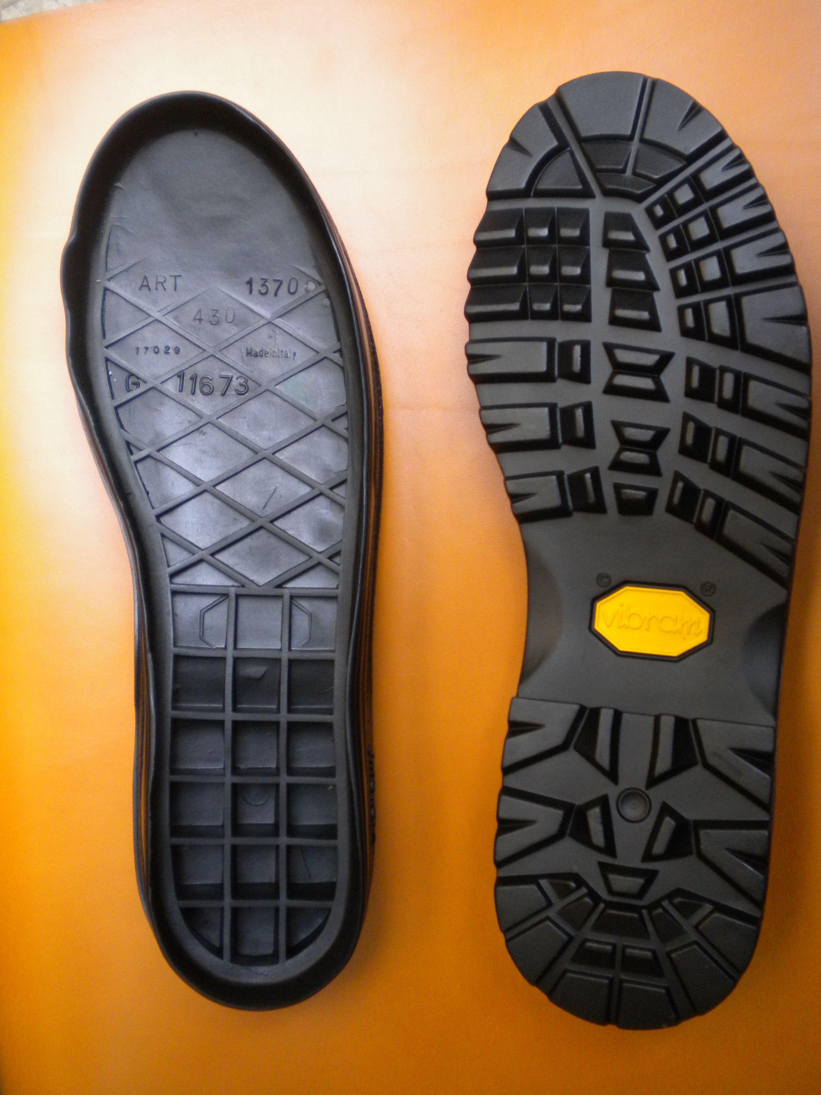 suole in gomma vibram rothorn dal 37 al 47 colore nero 靴