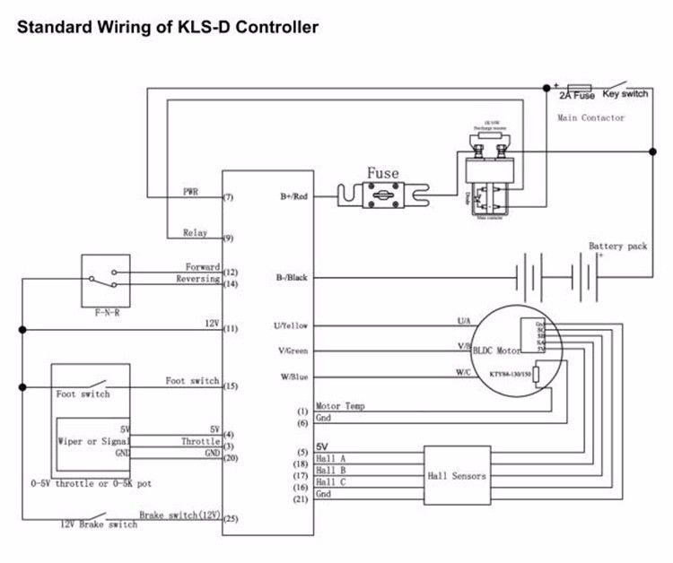 DHL Free Shipping Kelly Controller KLS4850D 24V-48V 400A ... Vespa Vba Wiring Diagram on