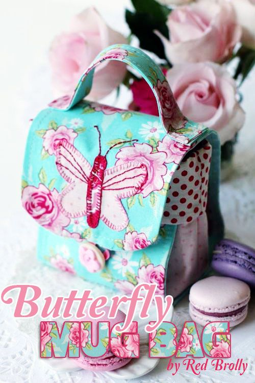 mug-bag-free-sewing-pattern-by-red-brolly | DIY | Pinterest ...