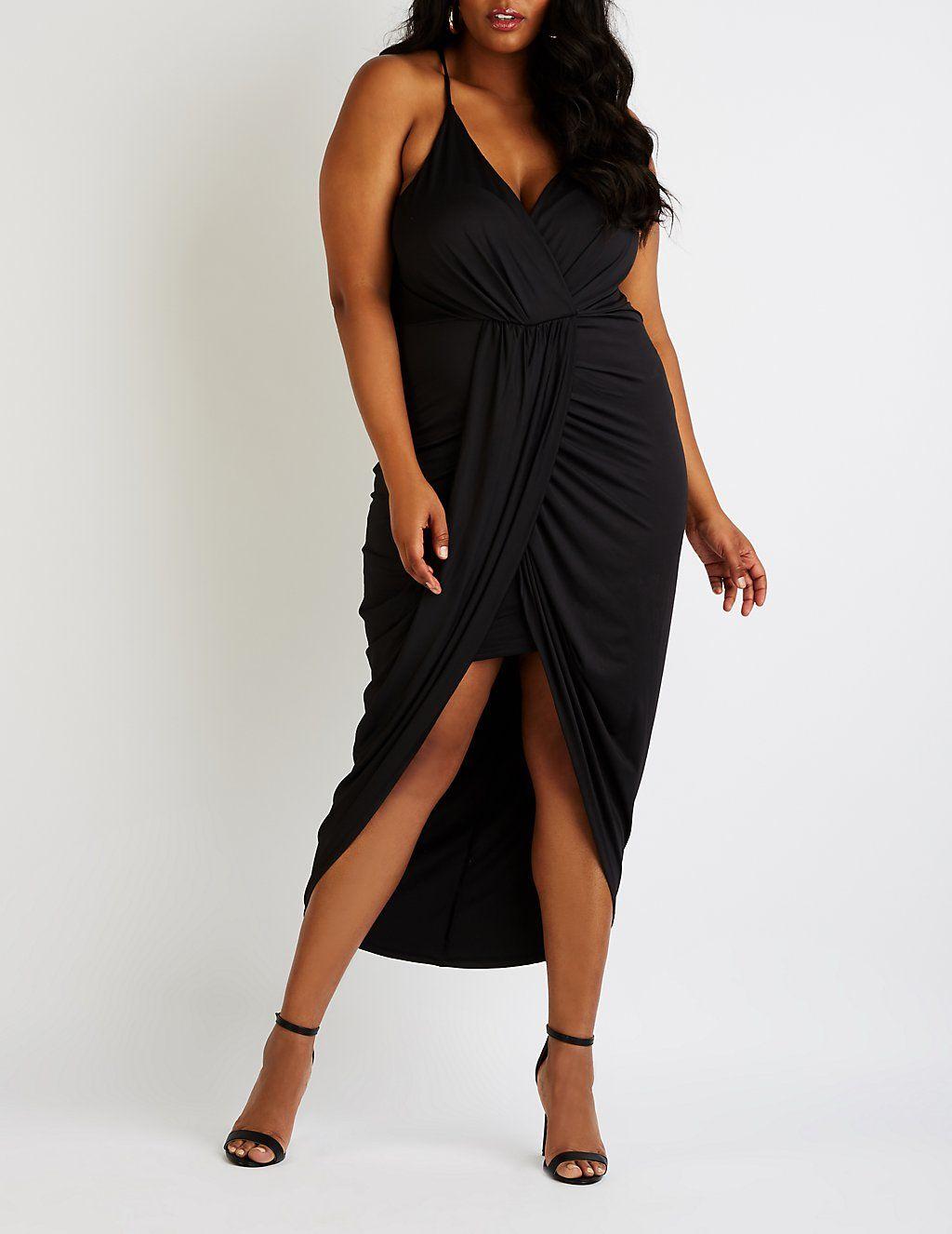 Plus Size Wrap Maxi Dress in 2019 | Plus Evening Wear ...