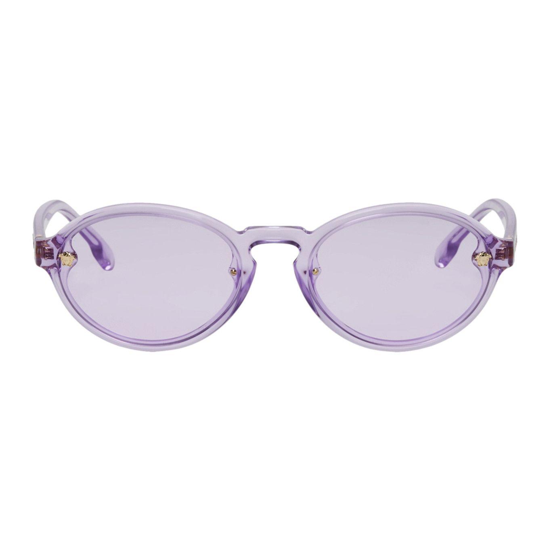 c7e4636037eeb Versace - Purple Oval Sunglasses