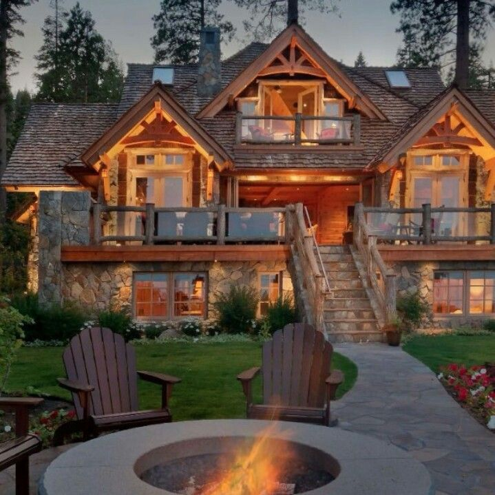 Beautiful Log Home House House Log Cabin Homes