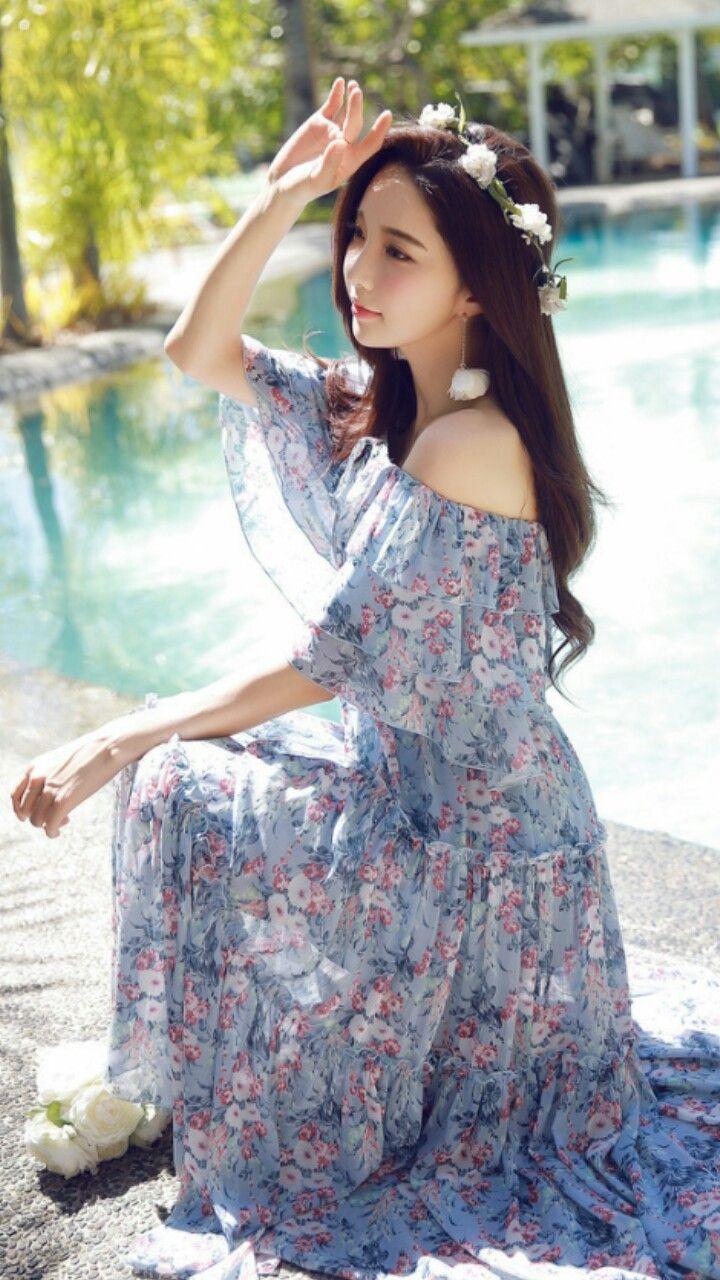 Dabuwawa new design butterfly design dress floral chiffon dress