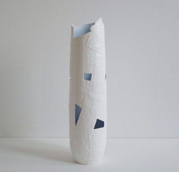 Large Brushstroke Column made with Plaster, Papier-mâché, Acrylic, Polyurethane