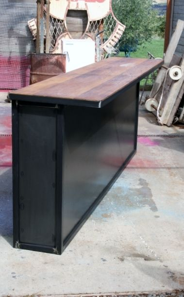 comptoir bar sur mesure industriel bar pinterest. Black Bedroom Furniture Sets. Home Design Ideas