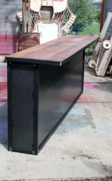 comptoir bar sur mesure industriel bar bar pallet. Black Bedroom Furniture Sets. Home Design Ideas