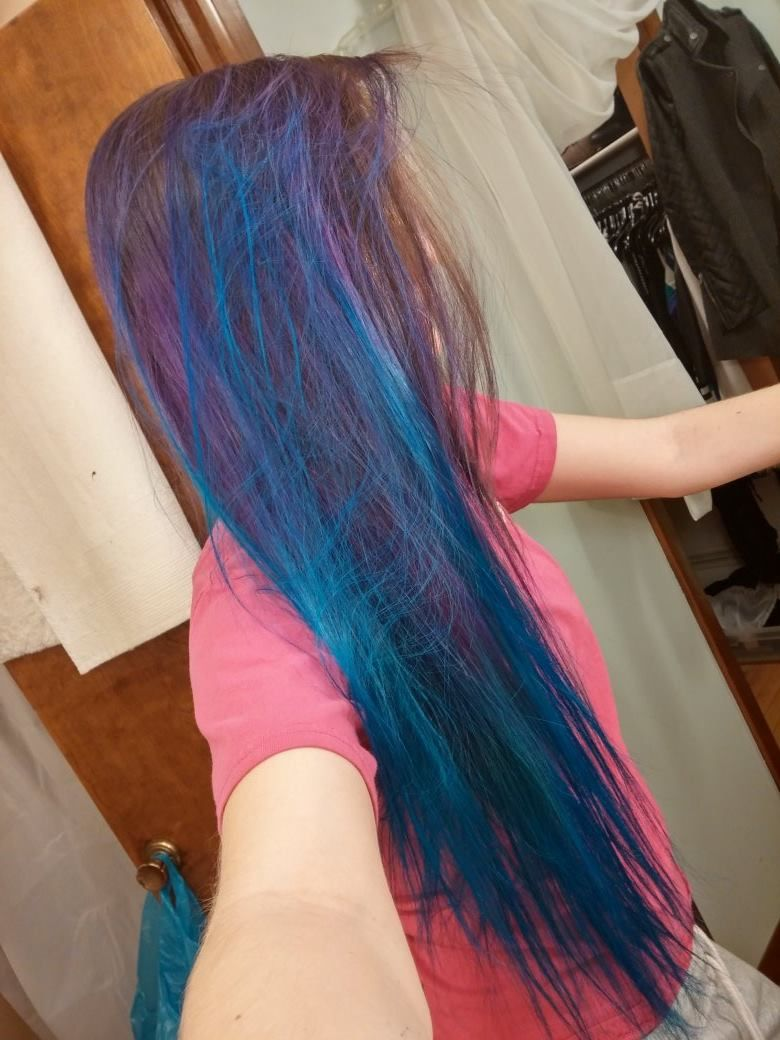 Manic Panic Purple Haze Over Unbleached Natural Hair Manic Panic Rockabilly Blue Over Slightly Pastel Purple Hair Manic Panic Purple Haze Natural Hair Styles