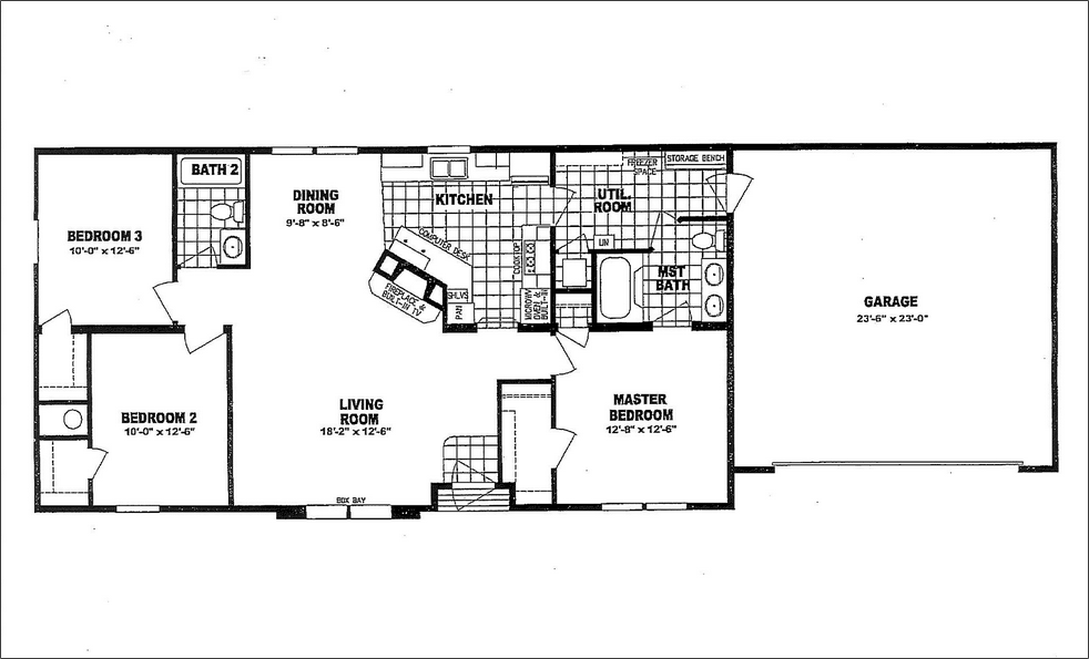 Mobile Home Floor Plans With Garage Mobile Home Floor Plans Floor Plans House Floor Plans