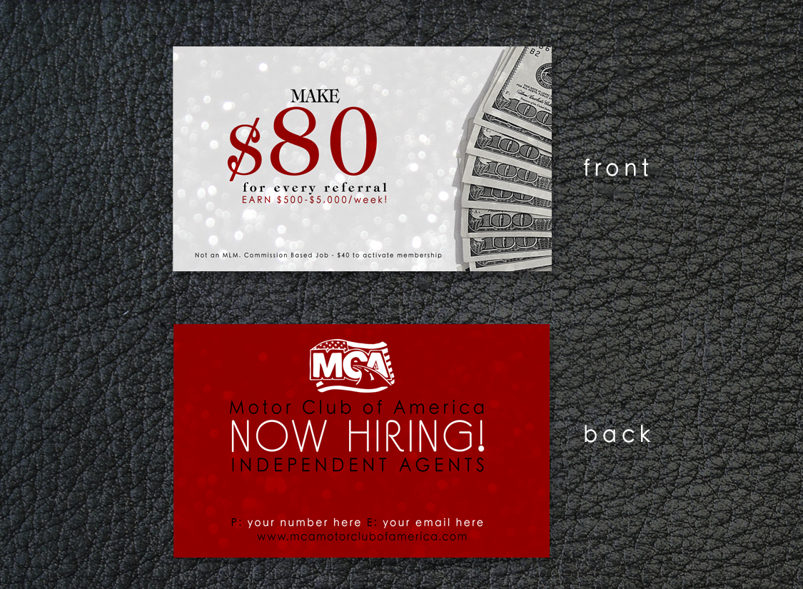 GET YOUR OWN BUSINESS CARD! Become a MCA Associate today for only ...