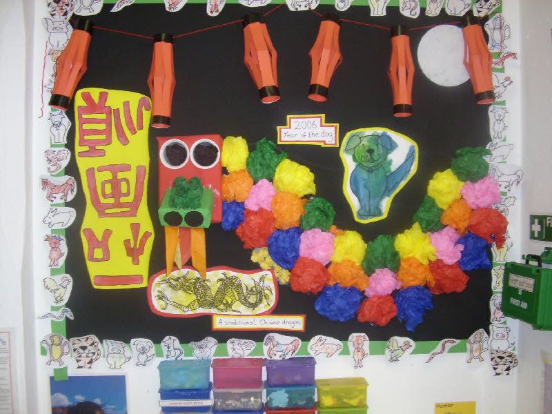 Chinese New Year classroom display photo from Kelly.