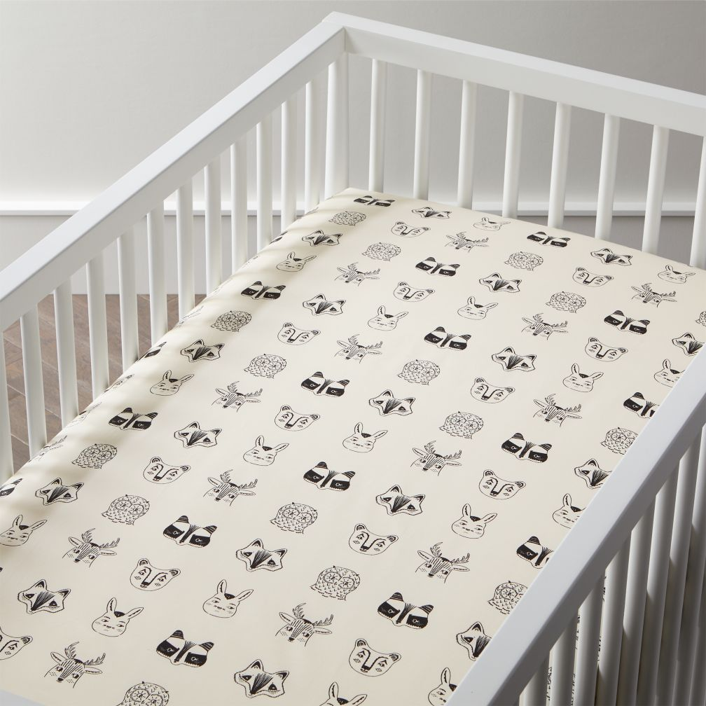 Organic Roxy Marj Woodland Animal Crib Fitted Sheet