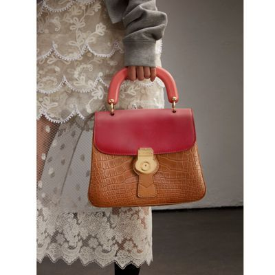 a55dd0d0932 BURBERRY THE MEDIUM DK88 TOP HANDLE BAG WITH ALLIGATOR.  burberry  bags   shoulder bags  hand bags  polyester  leather  lining