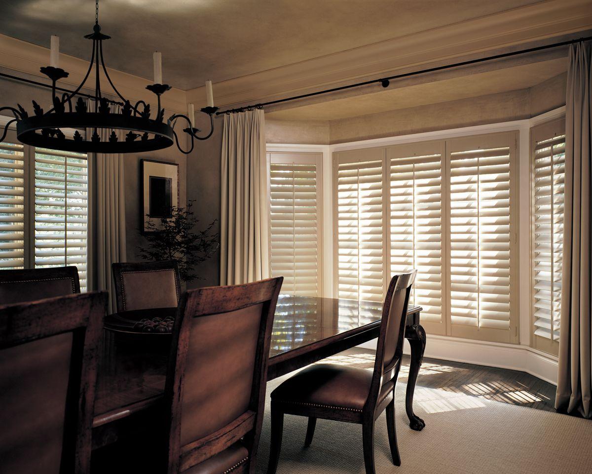 Dining Room Window Blinds Hunterdouglas Heritance® Hardwood Shutters  Dining Room