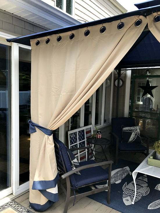 Outdoor DIY Gazebo Curtains With Grommets