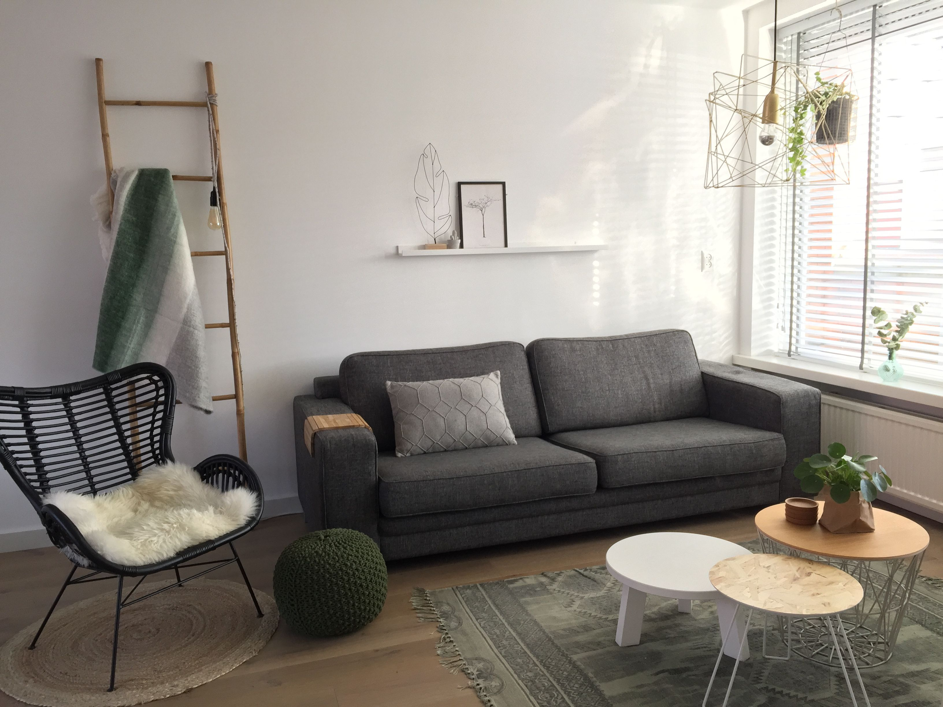 Scandinavian living room u2022 green interior u2022 tafeltjes zijn van