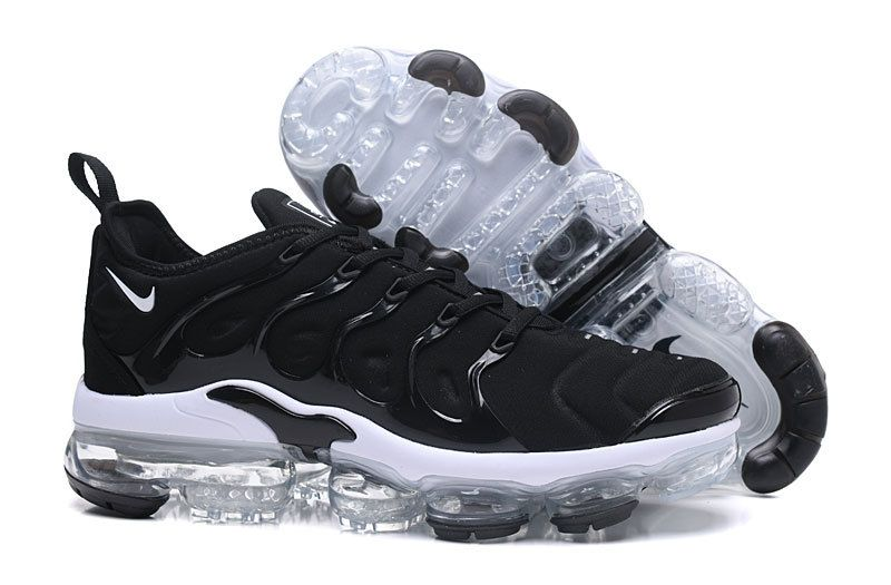 2018 Real Men Nike Air VaporMax Plus Shoes 2018 TN Core Black White ... 226d847e7
