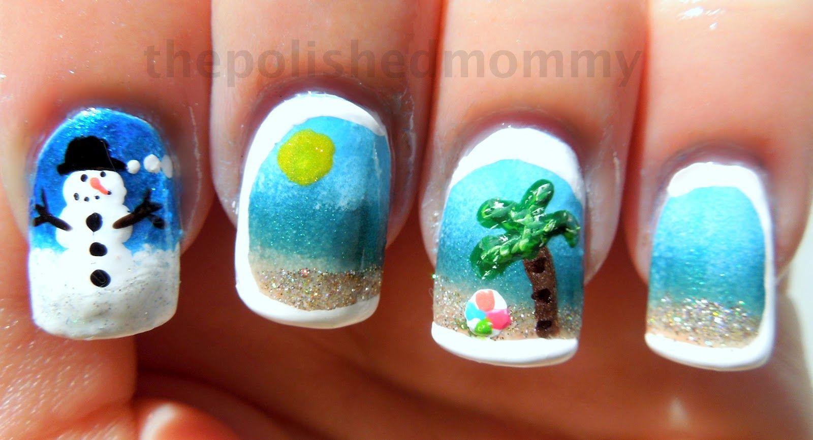 Beach Christmas Nails Christmas Nails Luv Nails Holiday Nails