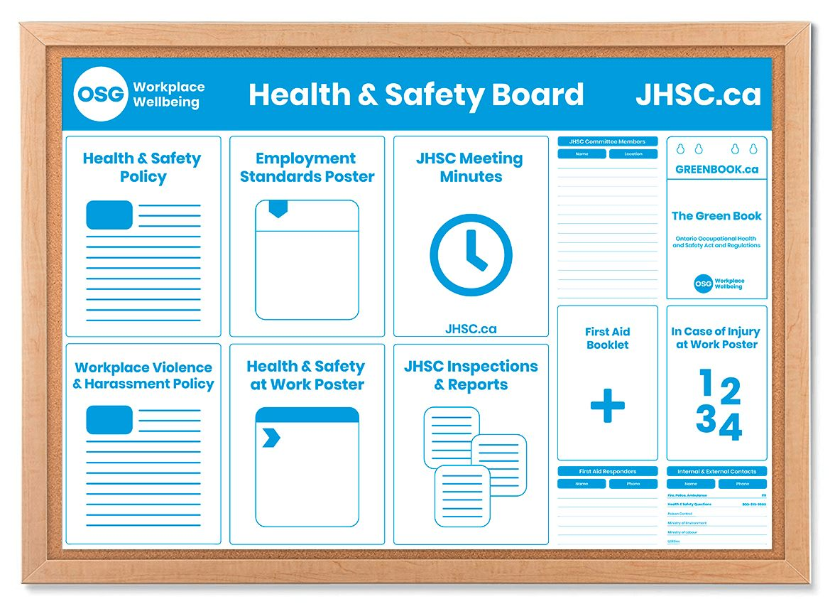 Health And Safety Board Poster Template Osg within