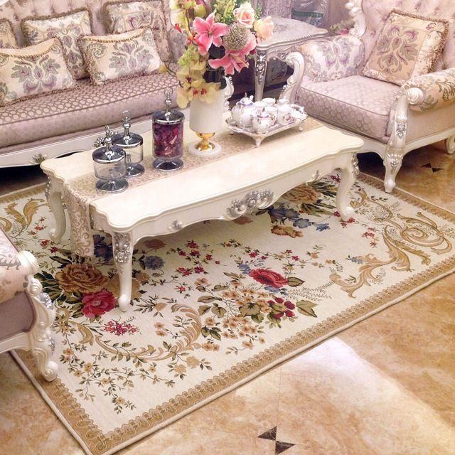 Grand britannique simple paysage rural tapis pour salon - Tapis pour table basse ...