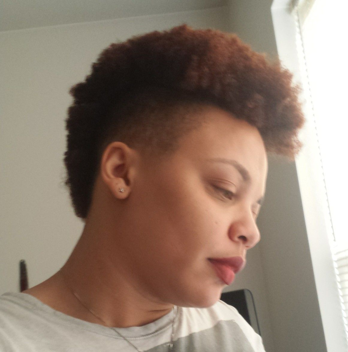 Natural mohawk hair pinterest