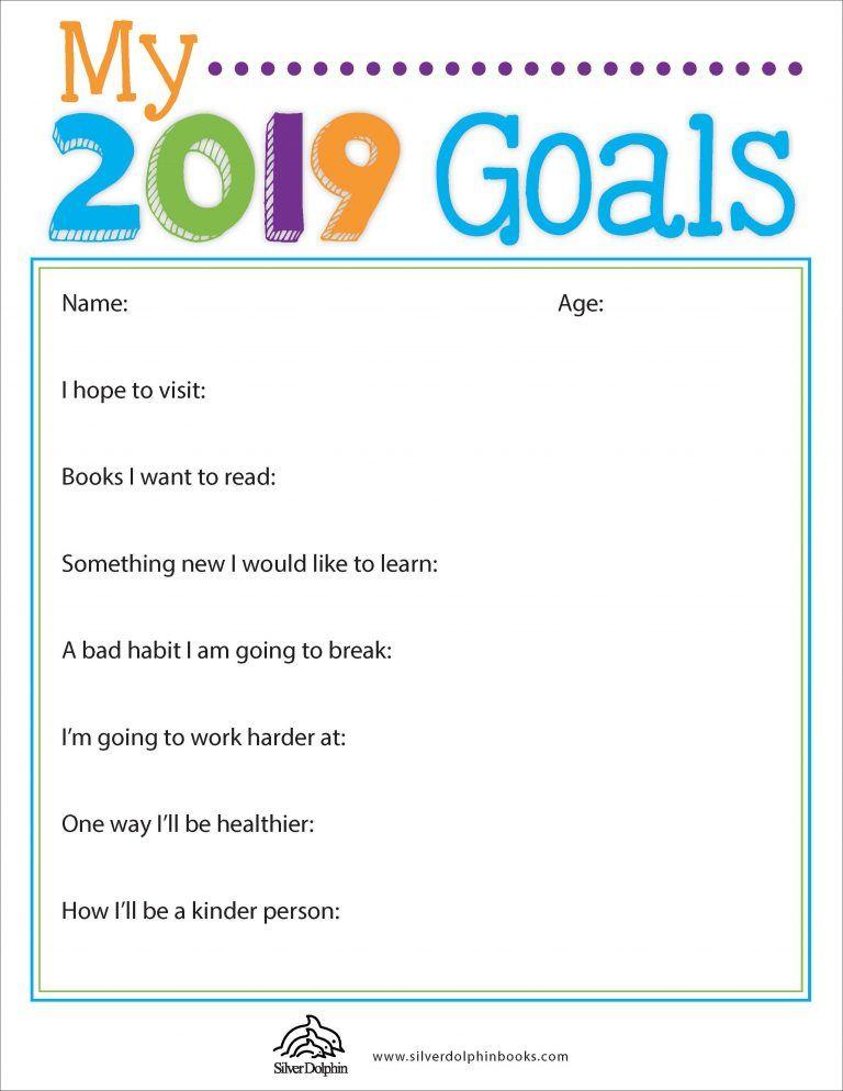 2019 Goals Downloadable Goals worksheet, Reading