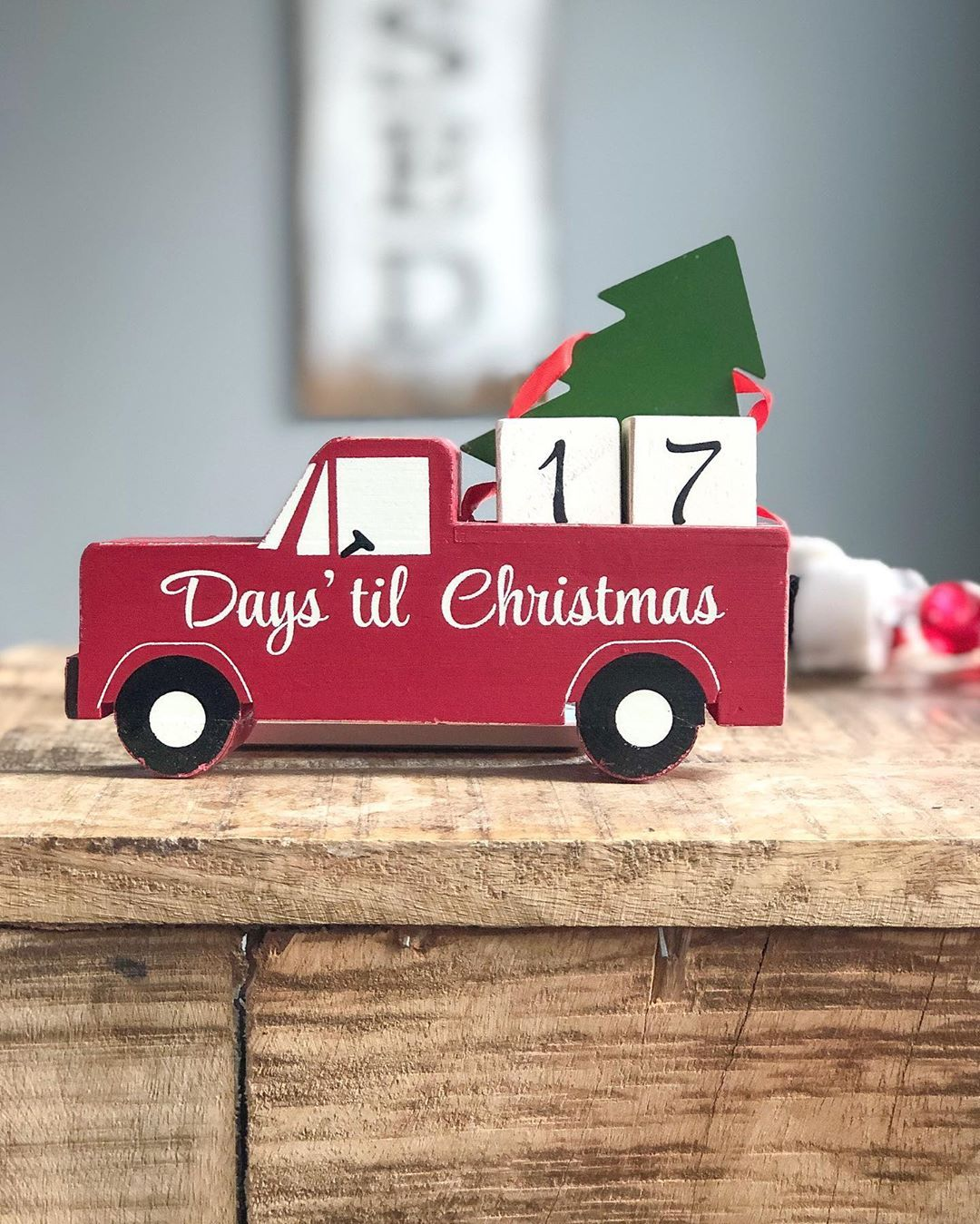 Santa comes to town in 17 days!  • • • •  #LTKholidayathome #LTKhome #LTKunder10... #americanfarmhouse #americanfarmhousestyle #christmascountdown #christmasjoy #cottagefarmhouse #diyfarmhousedecor #farmhousedecor