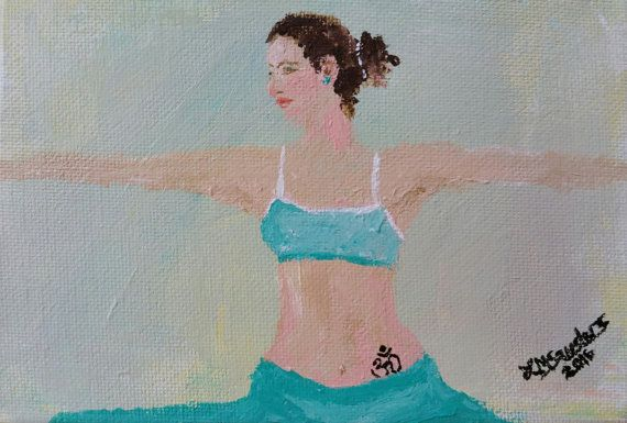 original yoga painting omwoman yoga meditate. Plain Yoga Original Yoga Painting OMWoman Yoga Meditate Apparel Throughout Painting Omwoman Meditate M