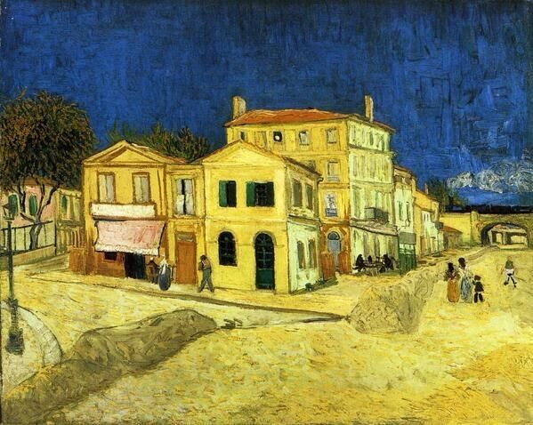Vincent Van Gogh「The Street, the Yellow House」(1888)