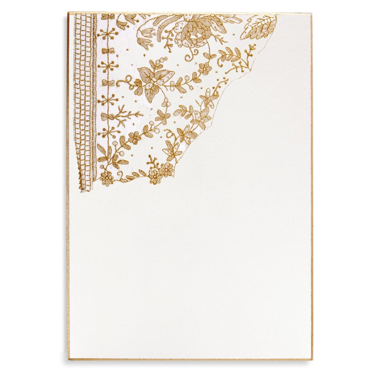 Vintage Gold Lace Wedding Invitations in gold engraving with a gold ...