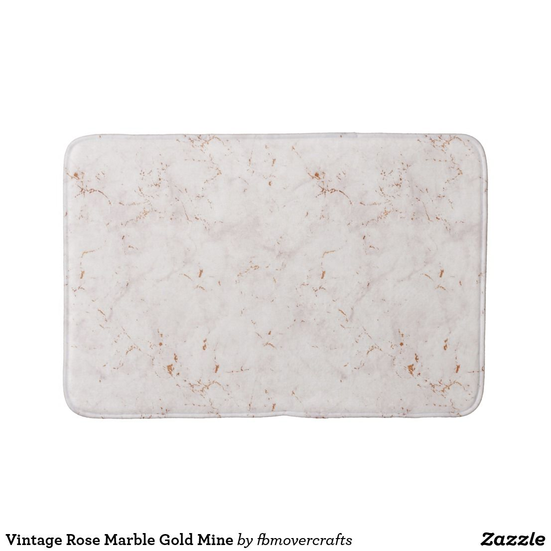 Vintage Rose Marble Gold Mine Bath Mat