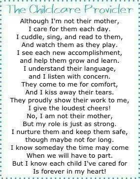 Childcare Quotes Endearing Childcare Poem To Touch Every Childcare Providers Heart Jenny's
