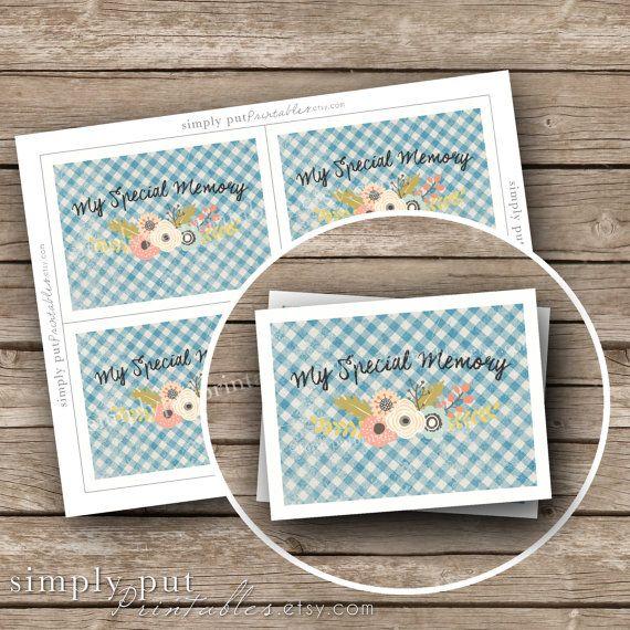 Share a Memory Cards Birthday Anniversary by SimplyPutPrintables