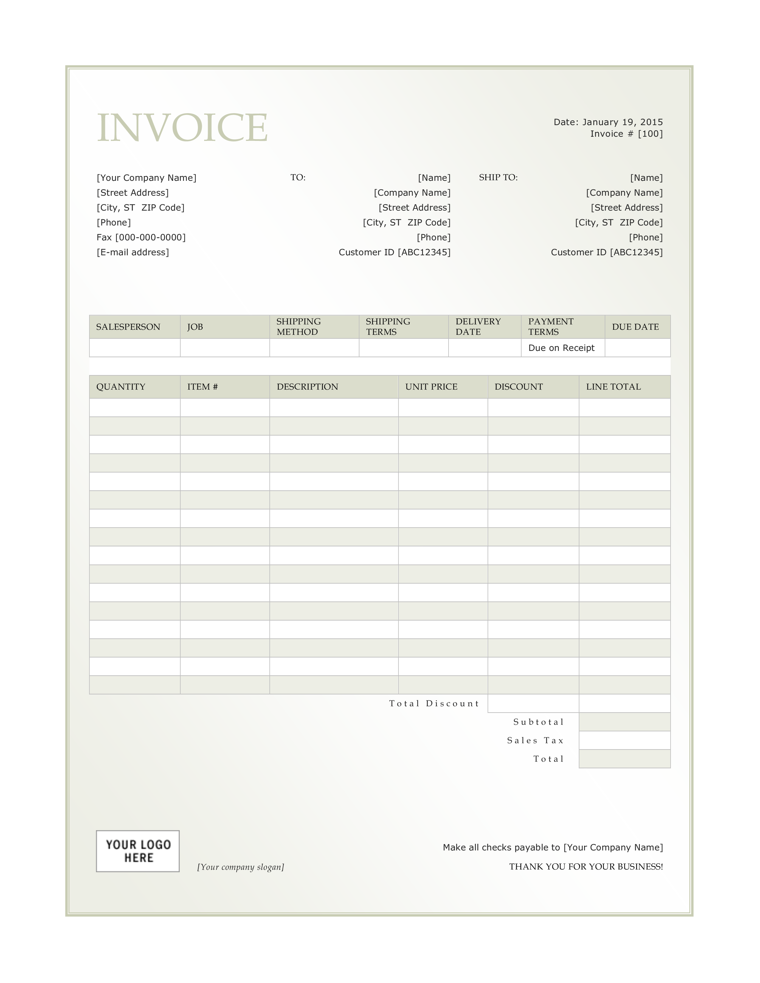 General Invoice Format How To Make An Invoice The Way You Present Yourself To Your Customers Is Impo Invoice Template Invoice Template Word Receipt Template