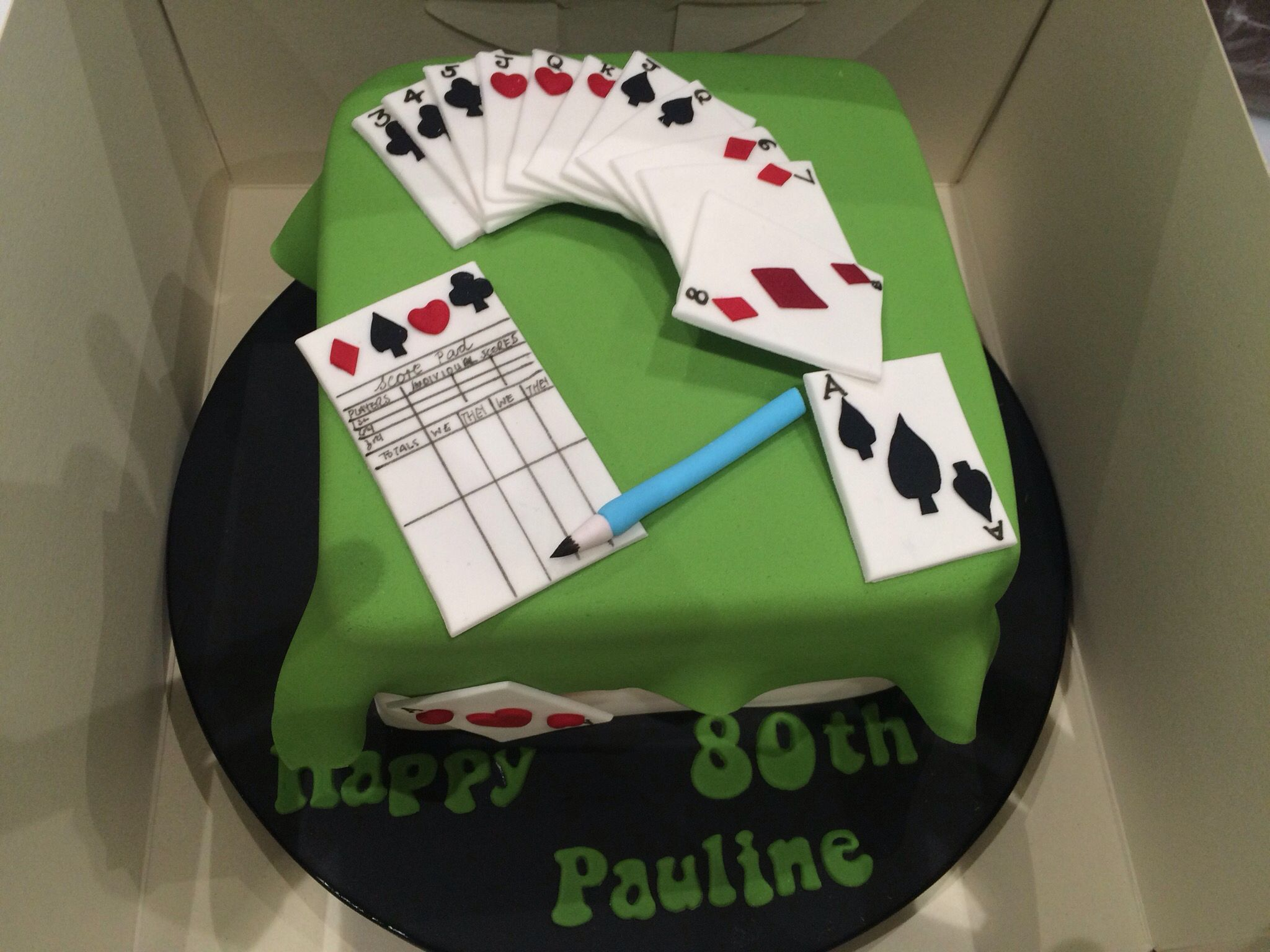 Bridge Themed Cake Themed Cakes Themed Birthday Cakes 70th Birthday Cake