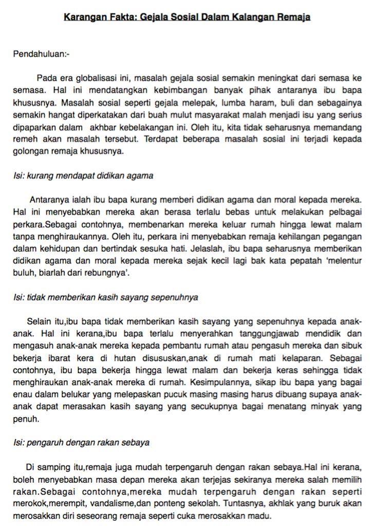Contoh Karangan Fakta Pt3 Yang Terbaik Bahasa Melayu Tree Cute766