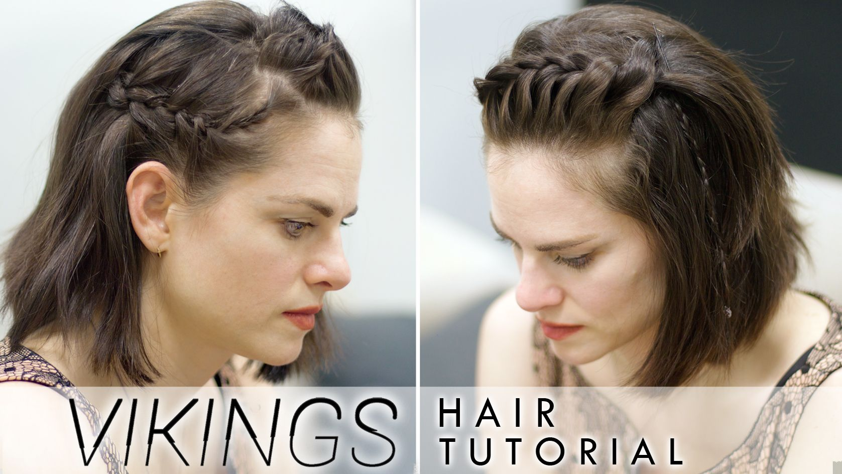 Amy Bailey On Viking Braids For Short Hair Viking Hair Short Hair Braids Tutorial Short Hair Tutorial