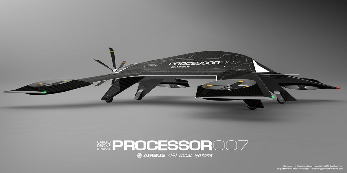Processor Is A Uav Drone Aircraft Design Concept For The Airbus Group It Has Been Designed To Perform Series Of Tasks That Could Well Be Future