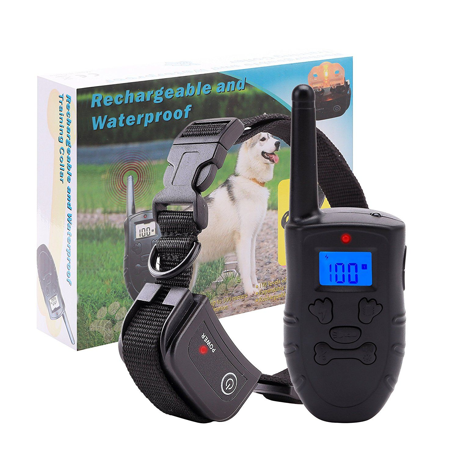 Amazon Com Traintech Dog Shock Collar With Remote Rechargeable
