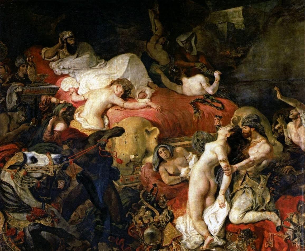 Peinture fran aise du 19 me si cle eug ne delacroix the death of sardanapalus the death of sardanapalus is based on the tale of sardanapalus th