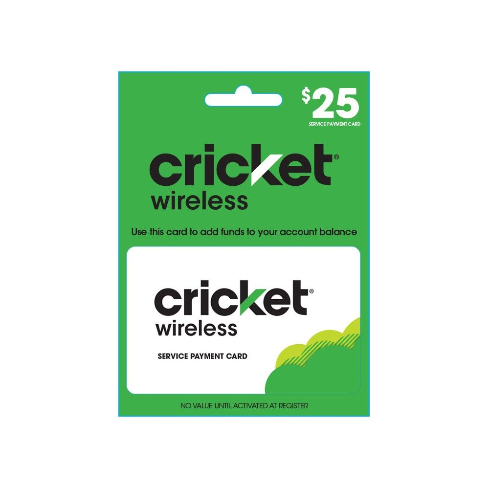 Cricket wireless prepaid 60 refill card email delivery