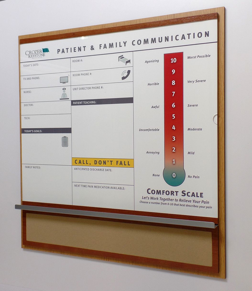 View In Patient Room Dry Erase Magnetic Communication